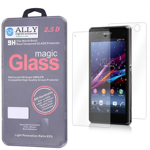 Ally Sony Xperia Z1mini Compact Kırılmaz Ön Ve Arka Cam Ekran Koruyucu