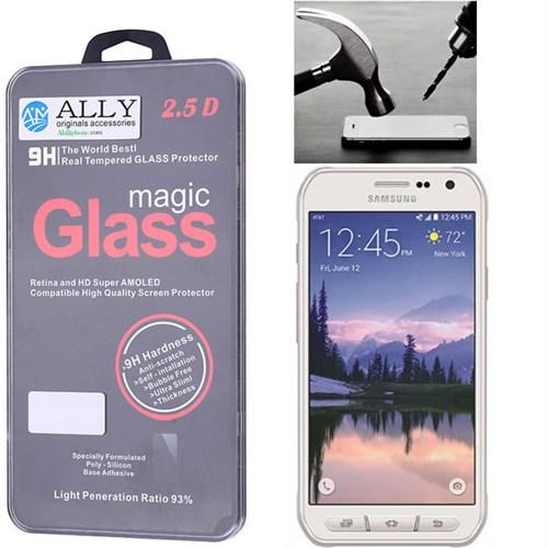 Ally Samsung Galaxy S6 Active G890 Kırılmaz Cam Ekran Koruyucu