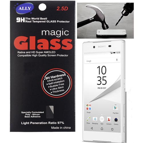 Ally Sony Xperia Z5 Tempered Kırılmaz Cam Ekran Koruyucu