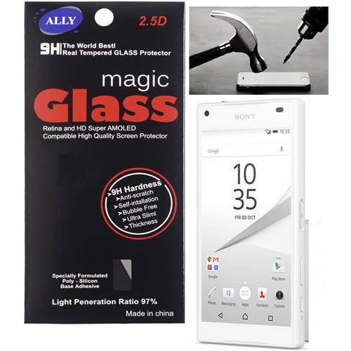 Ally Sony Xperia Z5 Mini Compact Kırılmaz Cam Ekran Koruyucu