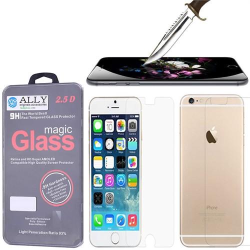 Ally Apple İphone 6.6S Plus Tempered Kırılmaz Ön Ve Arka Cam Ekran Koruyucu