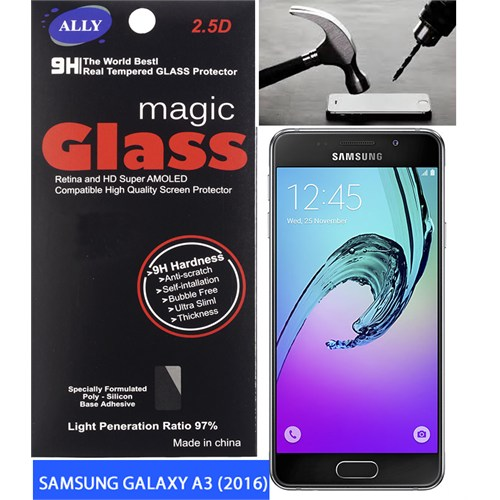 Ally Samsung Galaxy A3 A310 (2016) Kırılmaz Cam Ekran Koruyucu