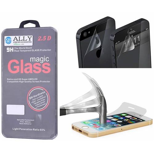 Ally İphone 5 Ve İphone 5S Uyumlu Çift Taraflı Magic Glass Tempered Kırılmaz Cam Ekran Koruyucu