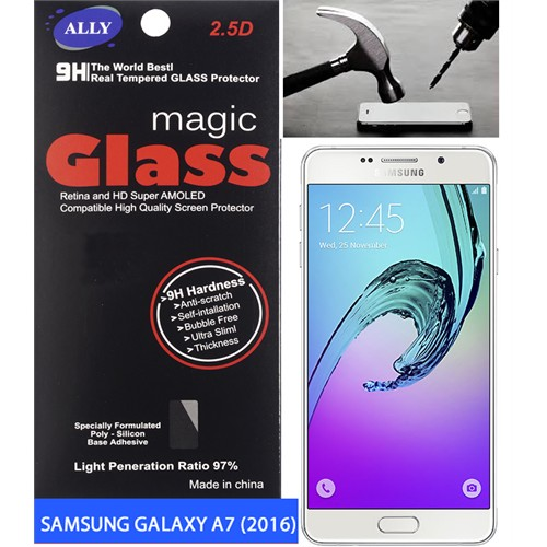 Ally Samsung Galaxy A7 A710 (2016 Kırılmaz Cam Ekran Koruyucu