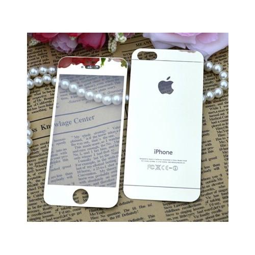 Ally İphone 5 5S Renkli Ön Ve Arka Magic Glass Tempered Kırılmaz Cam Ekran Koruyucu