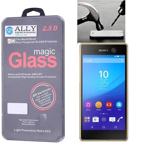 Ally Sony Xperia M5 Kırılmaz Cam Ekran Koruyucu