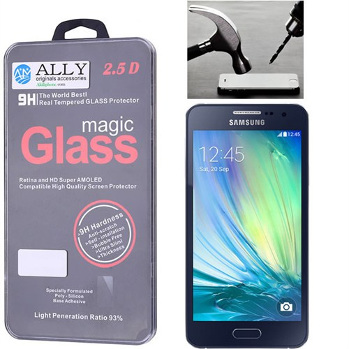 Ally Samsung Galaxy A3 Kırılmaz Cam Ekran Koruyucu