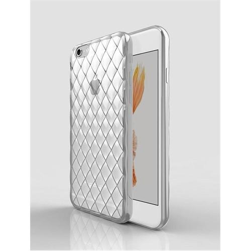 Ally Apple İphone 6 - 6S Darbe Emici 3D Kristal Şeffaf Silikon Kılıf