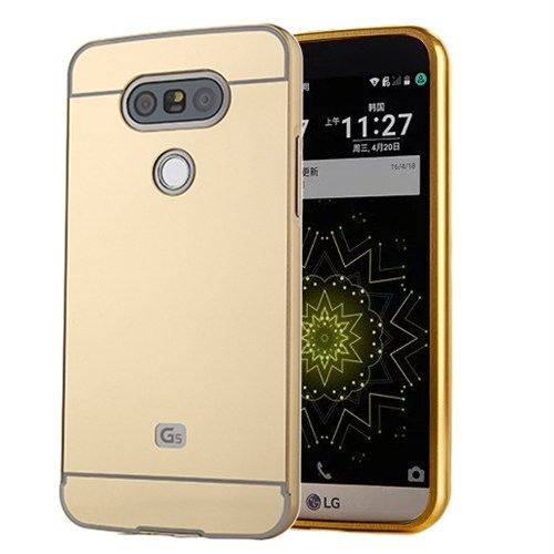 Microsonic Lg G5 Kılıf Luxury Mirror Gold