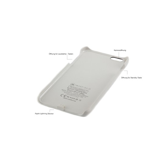 Maxfield Qı Lisanslı İphone 6 Plus Kablosuz Şarj Alıcılı Kılıf Siyah - Mx3310014