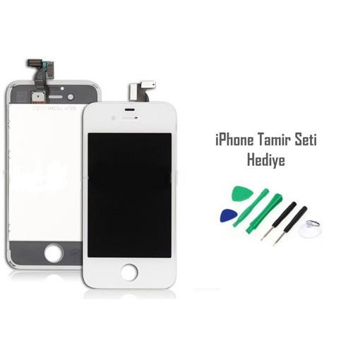 iPhone 4s Beyaz Ekran Lcd Tamir Seti Hediyeli