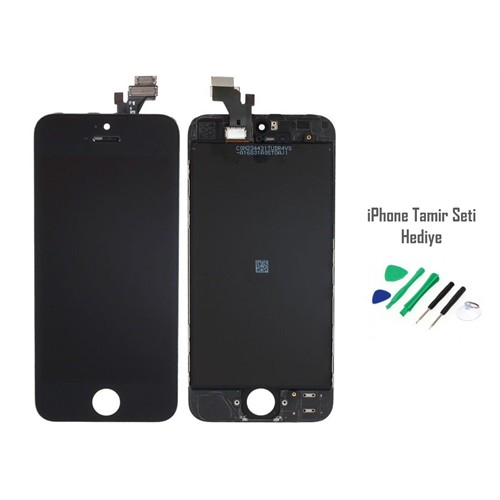 OEM iPhone 5 Siyah Ekran Lcd Tamir Seti Hediyeli