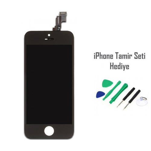 iPhone 5s Siyah Ekran Lcd Tamir Seti Hediyeli