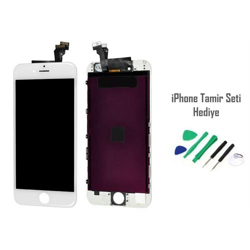 iPhone 6 Plus Beyaz Ekran Lcd Tamir Seti Hediyeli