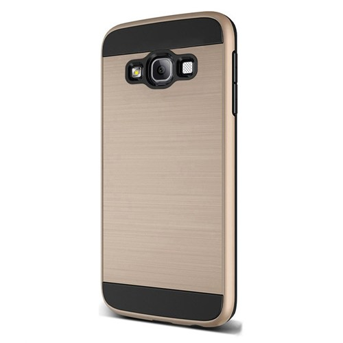 Cepsesuar Samsung Galaxy J3 Kılıf Design Gold + Kırılmaz Cam