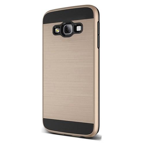 Cepsesuar Samsung Galaxy J7 Kılıf Design Gold + Kırılmaz Cam