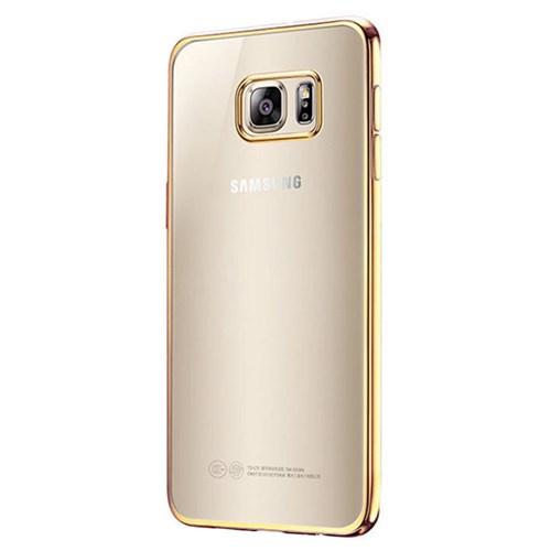 Cepsesuar Samsung Galaxy S7 Kılıf Silikon Lazer Gold