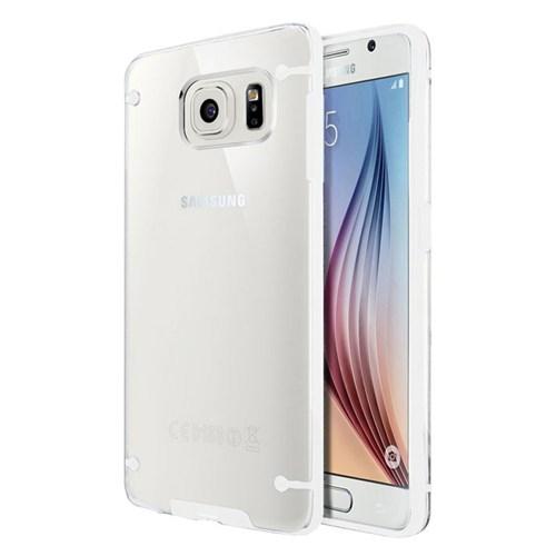 Cepsesuar Samsung Galaxy S6 Kılıf Silikon 4 Noktalı Beyaz