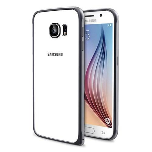 Cepsesuar Samsung Galaxy S6 Kılıf Bumper Siyah