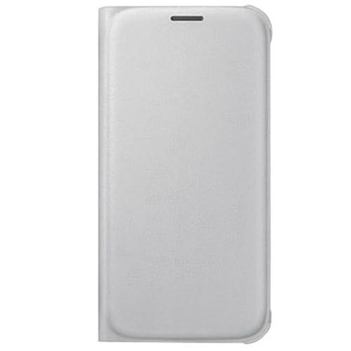 Cepsesuar Samsung Galaxy S6 Kılıf Kapaklı Beyaz