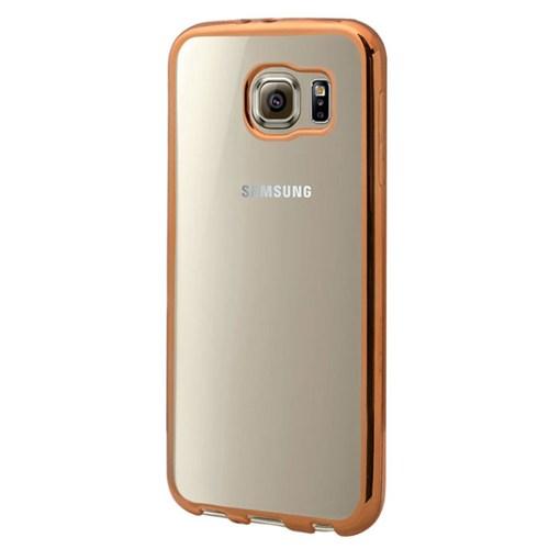 Cepsesuar Samsung Galaxy S6 Kılıf Silikon Lazer Gold