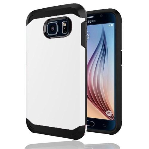 Cepsesuar Samsung Galaxy S6 Kılıf Zzgen Beyaz