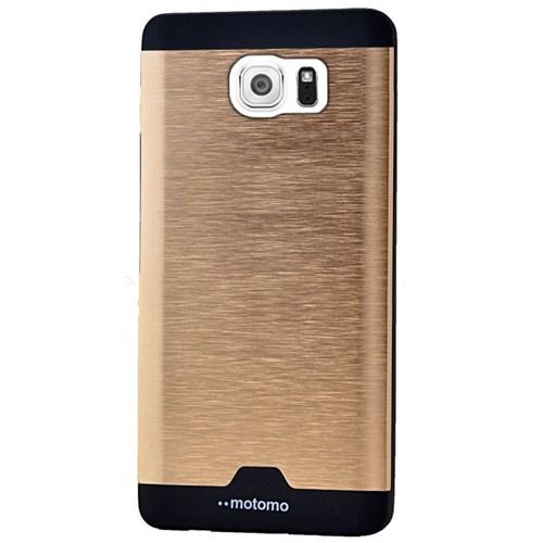 Cepsesuar Samsung Galaxy S6 Edge Kılıf Motomo Gold