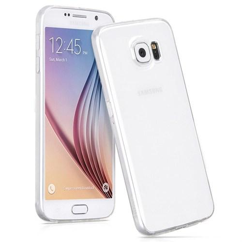 Cepsesuar Samsung Galaxy S6 Edge Kılıf Silikon 0.2 Mm Şeffaf