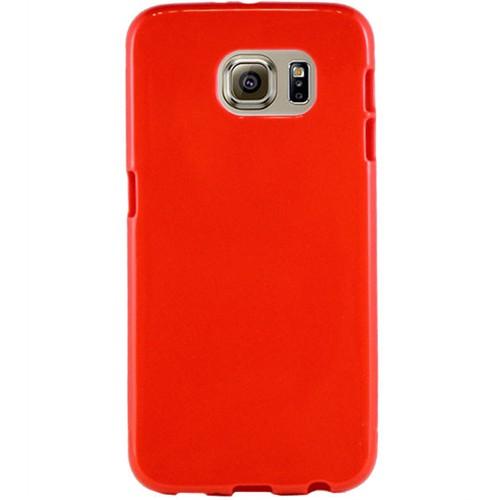 Cepsesuar Samsung Galaxy S6 Edge Kılıf Silikon Kırmızı