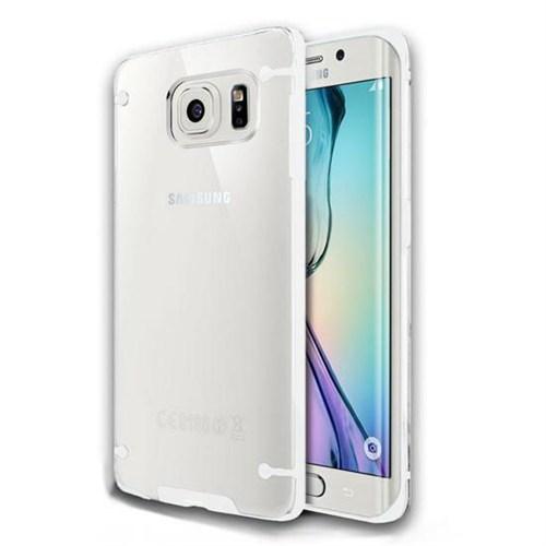 Cepsesuar Samsung Galaxy S6 Edge Plus Kılıf Silikon 4 Noktalı Beyaz