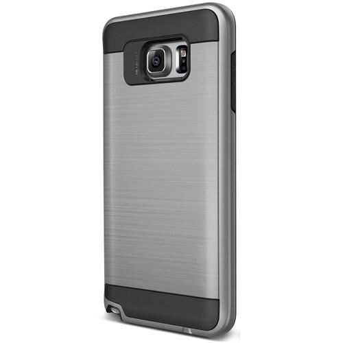 Cepsesuar Samsung Galaxy Note 5 Kılıf Design Gümüş