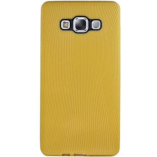 Cepsesuar Samsung Galaxy A3 Kılıf Line Hardal