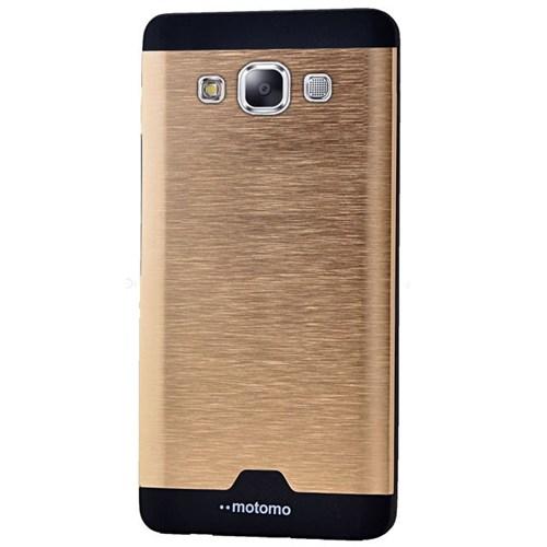 Cepsesuar Samsung Galaxy A7 Kılıf Motomo Gold
