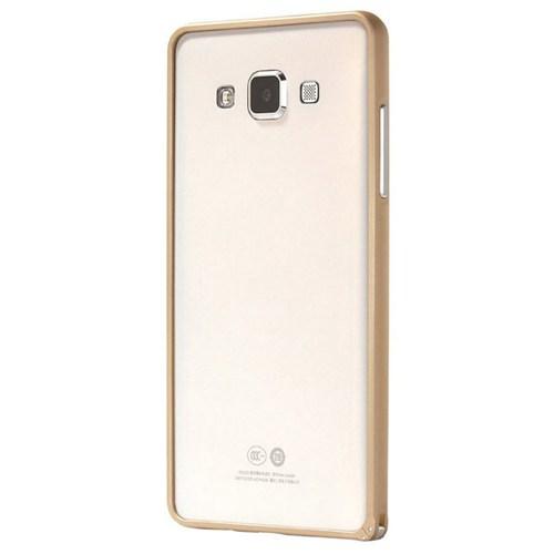 Cepsesuar Samsung Galaxy A3 Kılıf Bumper Gold