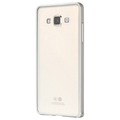 Cepsesuar Samsung Galaxy A5 Kılıf Bumper Gümüş