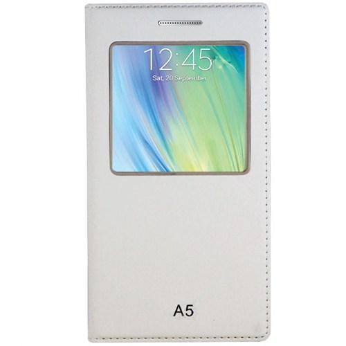 Cepsesuar Samsung Galaxy A5 Kılıf Kapaklı Dolce Beyaz