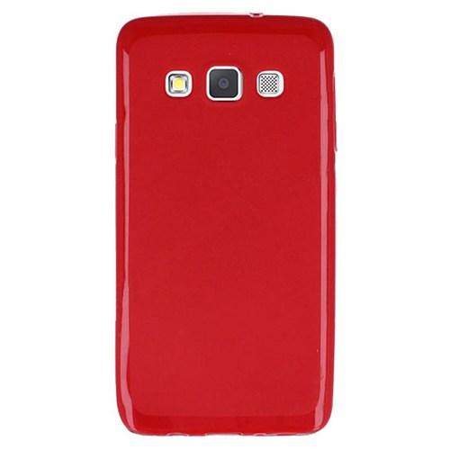Cepsesuar Samsung Galaxy A3 Kılıf Silikon Kırmızı