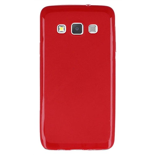 Cepsesuar Samsung Galaxy A7 Kılıf Silikon Kırmızı