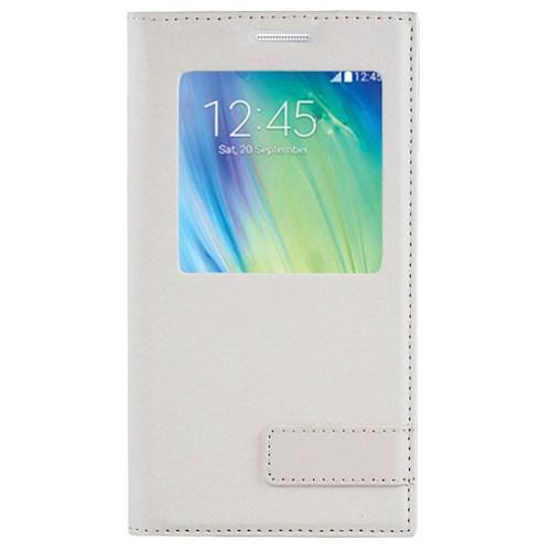Cepsesuar Samsung Galaxy A5 Kılıf Pencereli Safir Beyaz