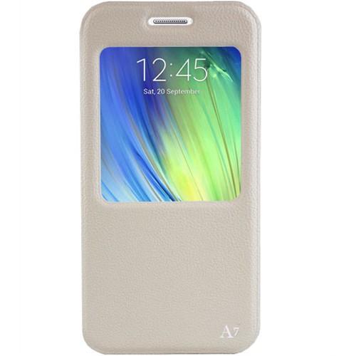 Cepsesuar Samsung Galaxy A7 Kılıf Ekol Standlı Beyaz