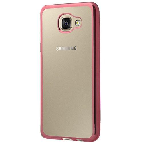 Cepsesuar Samsung Galaxy A3 2016 Kılıf Silikon Lazer Pembe