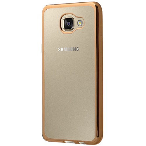 Cepsesuar Samsung Galaxy A5 2016 Kılıf Silikon Lazer Gold