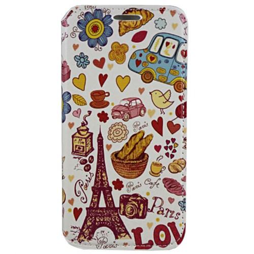 Cepsesuar Samsung Galaxy S6 Kılıf Standlı Paris Beyaz