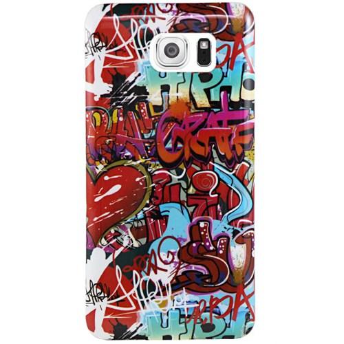 Cepsesuar Samsung Galaxy S6 Kılıf Silikon Desenli Grafiti
