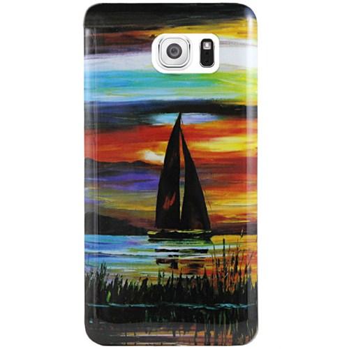 Cepsesuar Samsung Galaxy S6 Kılıf Silikon Desenli Yelken