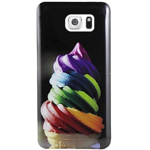 Cepsesuar Samsung Galaxy S6 Edge Kılıf Silikon Desenli Dondurma