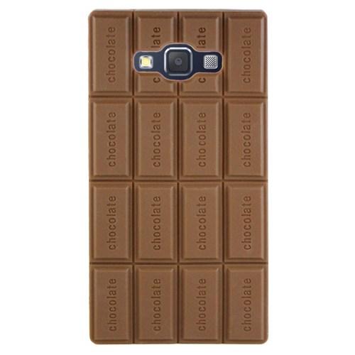 Cepsesuar Samsung Galaxy A7 Kılıf Silikon Çikolata