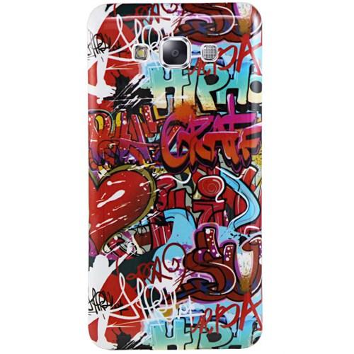 Cepsesuar Samsung Galaxy A3 Kılıf Silikon Resimli Grafiti