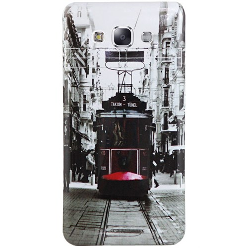 Cepsesuar Samsung Galaxy A5 Kılıf Silikon Resimli Tramvay