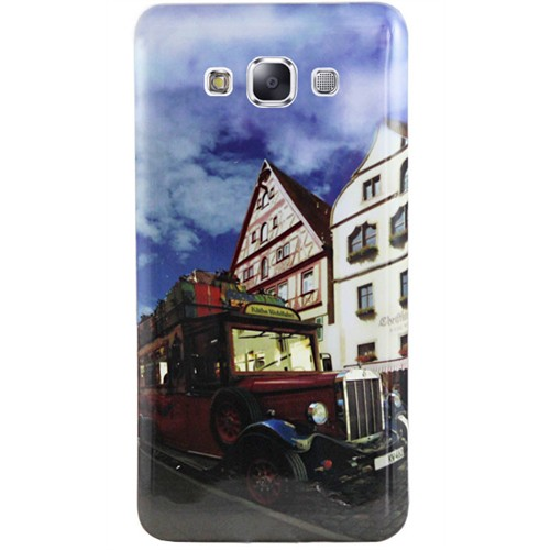 Cepsesuar Samsung Galaxy A7 Kılıf Silikon Resimli Araba